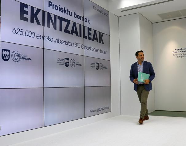 La Diputación impulsará la puesta en marcha de nuevas empresas en sectores de futuro a través de BIC Gipuzkoa