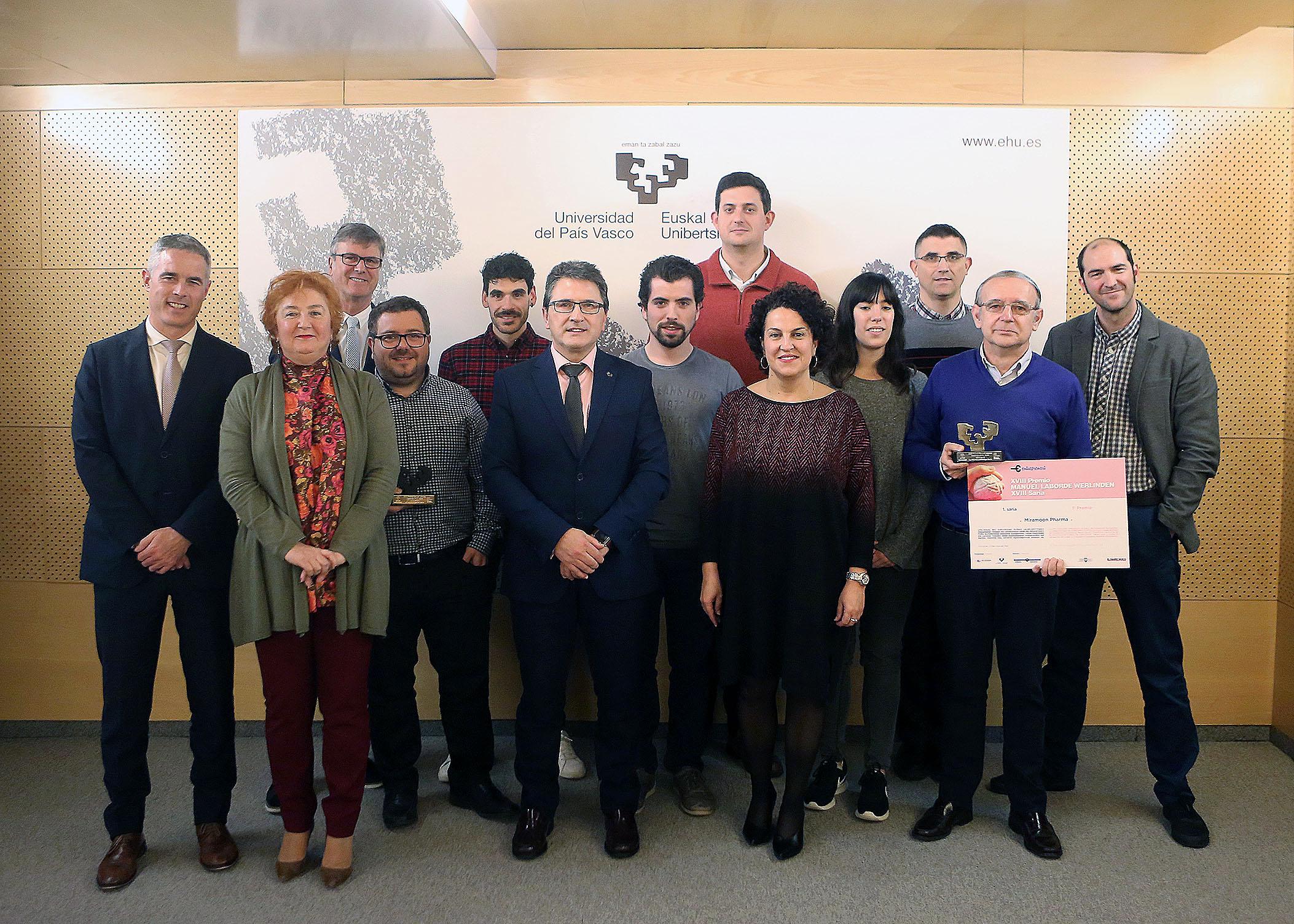 Miramoon Pharma y Wimbitek, ganadores del XVIII Premio Manuel Laborde Werlinden